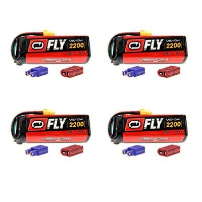 Venom-Fly-30C-4S-2200mAh-148V-LiPo-Battery-with-UNI-20-Plug-XT60DeansEC3-x4-Packs-Compare-to-E-flite-EFLB22004S30