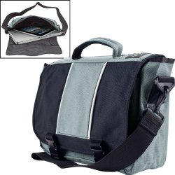 Aj Kitt Laptop, Ipad, Netbook & Tablet Messenger Bag - Grey Aj Kitt Laptop, Ipad, Netbook & Tablet