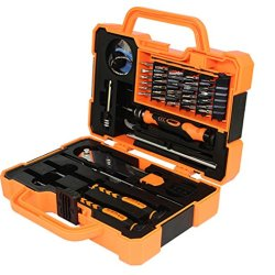 Gk 45-Piece Slotted, Phillips, Torx, Pentalobe Head Type Screwdriver Set