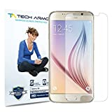Tech Armor Samsung Galaxy S 6 High Defintion (HD) Clear Screen Protectors - Maximum Clarity and Touchscreen Accuracy [3-Pack] Lifetime Warranty