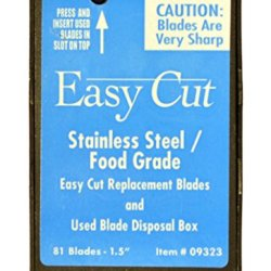81 Count Stainless Steel / Food Grade Replacement Blades For Easy Cut Series (81 Blades In A Box)
