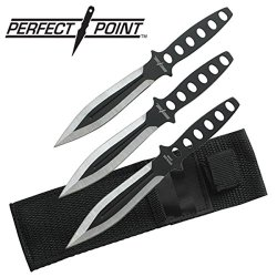 "Perfect Point 3 Piece Throwing Knives Knife Set 8"" W/ Tactical Sheath (Limited Edition)"