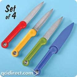 Food Safety Paring Knives, Super Sharp