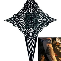 Novoskins Tattoo Artist Temporary Tattoo Hand Painted Waterproof Transfer 'Tribe Dagger' Design (21Cm X 14Cm)