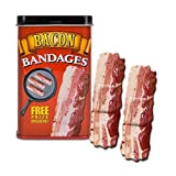 BACON shaped themed Adhesive Bandages, 15 Die-Cut Sterile Strips