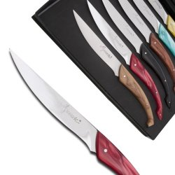 Set Of 6 Monnerie Knives Tableware In Assorted Colors Direct From France