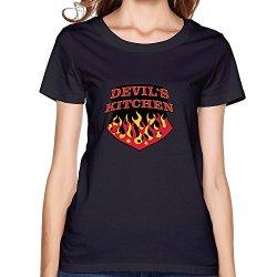 Lfd Women'S Devils Kitchen Cotton Round Collar T Shirt 22 Black