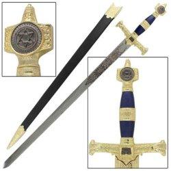 Blue & Gold King Solomon Sword