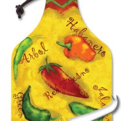 Counterart Spicy Chili Peppers Big Cheese 14-1/4 Inch Glass Board With Cheese Knife