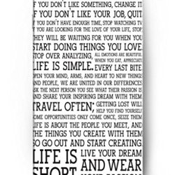 Ouo Design This Is Your Life. Do What You Love And Do It Often. If You Don'T Like Something, Change It. If You Don'T Like Your Job, Quit. Fit For 5.5 Inch Iphone 6 Plus - Hard Snap On Plastic Case - Inspirational And Motivational Life Quotes