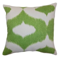 The Pillow Collection Leilani Ikat Pillow, Green