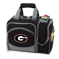 Exclusive By Picnictime Insulated Pack With Picnic Service For 50/Black-Georgia University (Digital Print)