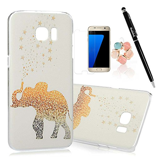 S7-Edge-CaseSamsung-Galaxy-S7-Edge-Case-BADALink-Ultra-thin-Slim-Fit-Colorful-Print-Pattern-Hard-PC-Cover-with-High-Definition-Screen-Protector-Dust-Plug-Stylus-Pen-Elephants-and-Stars