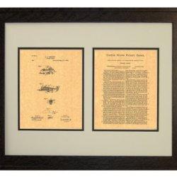 "Pocket Knife Patent Art Print In A Rustic Oak Wood Frame (16"" X 20"")"