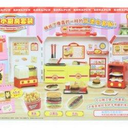 Japan Bandai Konapun Hamburger French Fries Kid Toys Cooking Kitchen Set