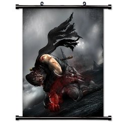 "Ninja Gaiden Videogame Fabric Wall Scroll Poster (32"" X 43"") Inches"