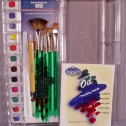 Royal -Deluxe Oil Painting Brush, Tool & Instruction Booklet In Palette Case!
