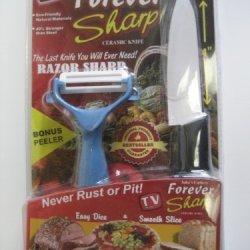Forever Sharp Ceramic Knife & Bonus Peeler
