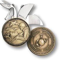 "Marine Coin Knife - 1 1/2"" Bronze Antique"