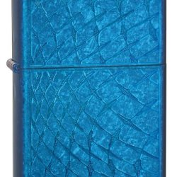 Zippo Cerulean Iced Diamond Plate Lighter (Blue, 5 1/2X3 1/2-Cm)