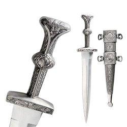 Julius Caesar Roman Legionnaire Gold Dagger Gladiator Short Sword Knife