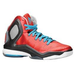 Men'S Adidas Derrick Rose 5 Boost Basketball Shoes Scarlet/Solar Blue/Core Black C75593 (15)