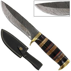Santa Fe Trail Hand Forged Damascus Hunting Knife