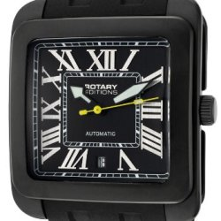 Men'S Editions Automatic Black Dial Black Ip Case Black Rubber Men'S Editions Automatic Black Dial