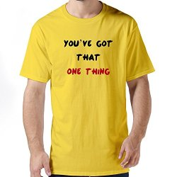 Cute Youve One Thing Mens T Shirt Small Yellow