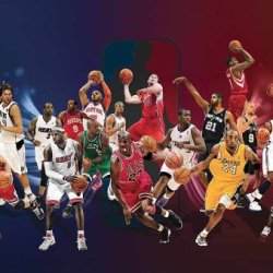 J-4544 Nba All Star - Michael Jordan, Cobe Bryant, Lebron James, Dirk Nowitzki, Tim Duncan, Carlos Boozer - Basketball Poster - Rare New - Image Print Photo