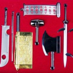 Nuoya001 Seven People Weapon Model Anime Naruto Sword Knife Set Pendant Hangings Gift