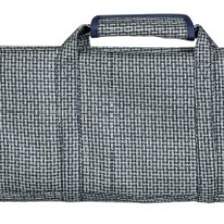 Messermeister 12 Pocket Knife Roll, Navy And Silver Woven