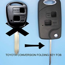 Replacement Housing Folding Flip Remote Key Shell Keykess Case Fob 2 Button For Toyota Yaris Carina Corolla Avensis Toy47 Blade