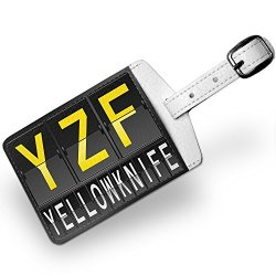 Luggage Tag Yzf Airport Code For Yellowknife, Travel Id Bag Tag - Neonblond