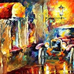 Palette Knife Canvas For Home Decoration,Vintage Impression Wall Art 40 X 16 In Unframed