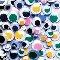 Chenille Kraft - Color Wiggle Eyes - Assorted Sizes - Pack Of 500
