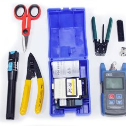 Ftth Assembly Optical Fiber Termination Tool Kit With Fc-6S Fiber Tl510 Cleaver Optical Power Meter 10Mw Pen-Type Visual Fault Finder