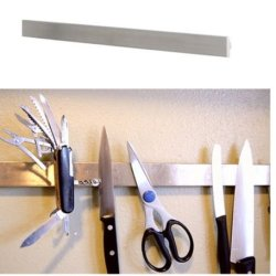 "Ikea 16"" Magnetic Knife Rack Stainless Steel Scissors Tools Holder Bar"