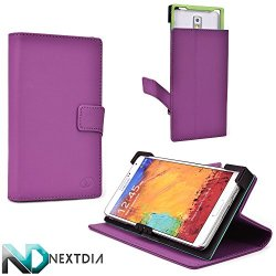 Tyrian Purple Hard Case Fits Doogee Dagger Dg550 |Universal Fit With Stand Function + Nd Cable Wrap