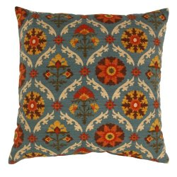 Pillow Perfect Mayan Medallion 23-Inch Floor Pillow, Adobe