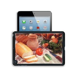 Cucumber Bread Tomato Baked Goods Herbs Knife Apple Ipad Mini Snap Cover Premium Aluminium Design Back Plate Case Open Ports Customized Made To Order Support Ready 8 Inch (205Mm) X 5 1/2 Inch (140Mm) X 11/16 Inch (17Mm) Liil Ipad Mini Professional Metal C