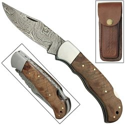 American Lawman Lock Back Damascus Steel Hand Forged Pocket Knife