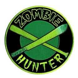 Zombie Hunter Machete Biker Motorcycle Mc Club Embroidered Back Patch Lrg-0525