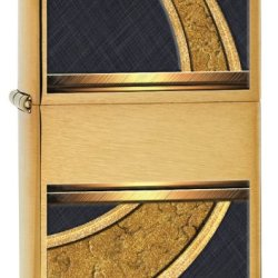 Zippo Design Lighter, Brushed Brass