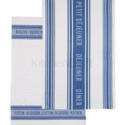 Kitchen Craft Jacquard Navy Blue Set Of 2 Tea Towels