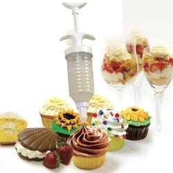 Norpro Cupcake Filling Injector Cake Icing Decorating Set Frosting Cookie 8 Tips