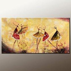 Original Painting Large Painting Ballet Dancer Oil Painting Modern Art Canvas Art Impasto Texture Palette Knife Artwork Impressionism Wall Art