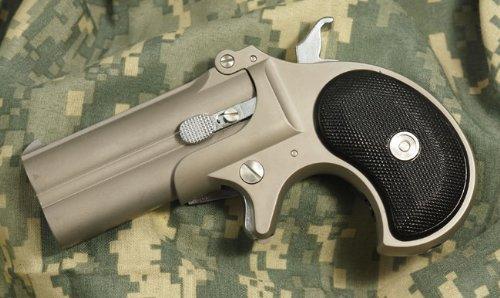 マルシン工業 ハイパーデリンジャー8mmBB ロストステンレスシルバーモデル ガスガン+発火モデルガンのハイブリッド! 【マルシン工業】