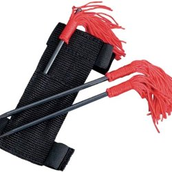 Sc 3 Pcs Throwing Spikes Set W/Red Tassels