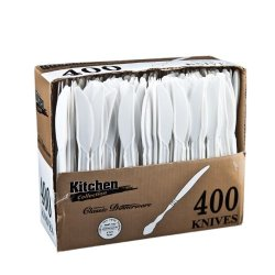 Kitchen Collection White Knives Medium Weight 400Cs